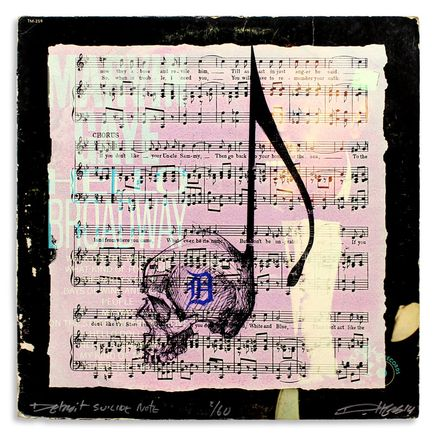 Derek Hess Original Art - Detroit Suicide Note 2
