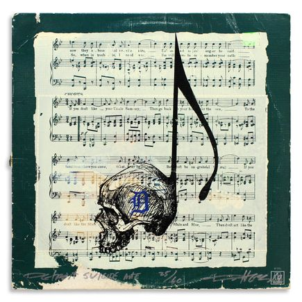 Derek Hess Original Art - Detroit Suicide Note 25