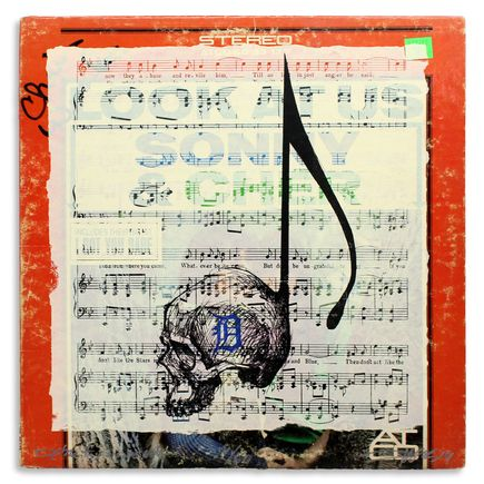 Derek Hess Original Art - Detroit Suicide Note 4