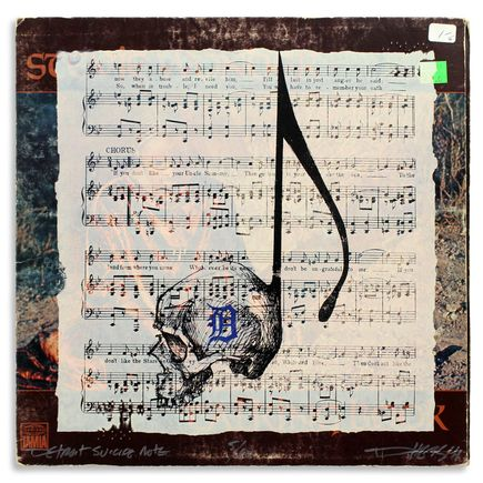 Derek Hess Original Art - Detroit Suicide Note 5