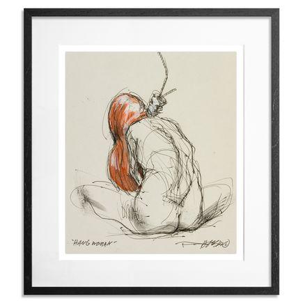 Derek Hess Original Art - Hang Woman