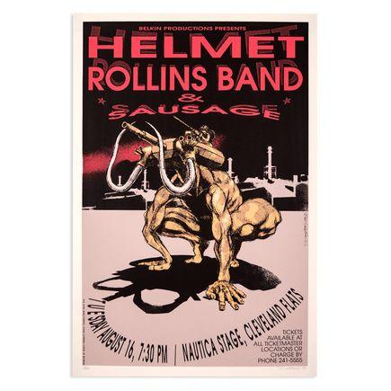 Derek Hess Art - Helmet - Aug. 16th, 1994 at Nautica Stage