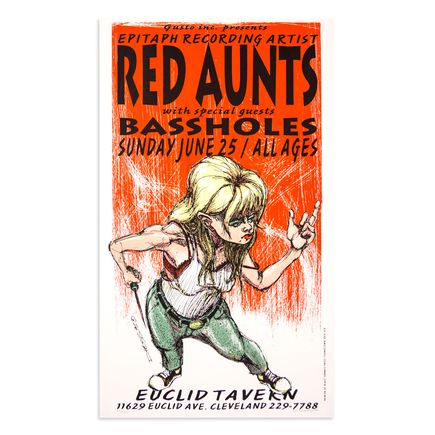 Derek Hess Art - Red Aunts - June 25th, 1995 at The Euclid Tavern