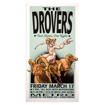 Derek Hess Art -  The Drovers - March 17th 1995 at The Metro