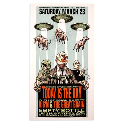 Derek Hess Art - Today Is The Day - Mar. 23rd, 1996 at The Empty Bottle