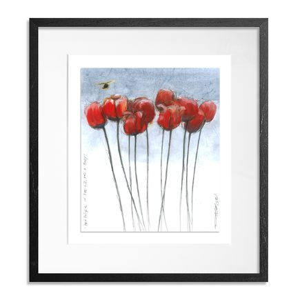 Derek Hess Original Art - Ten Tulips