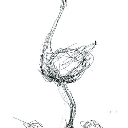 Derek Hess Original Art - NVA Flightless Bird - Original Sketch