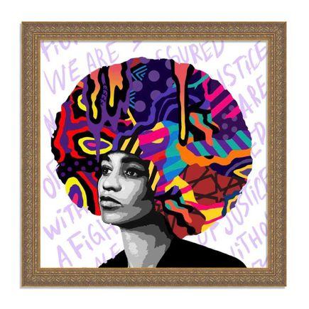 Dina Saadi Art Print - Angela Davis - Hand-Embellished Editions