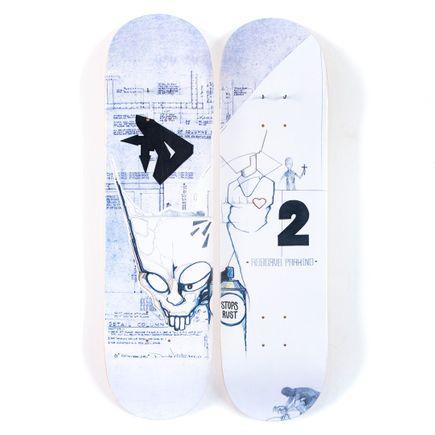 DONDI Art Print - 2-Deck Diptych - Iron Man Lives - Skate Deck Variant