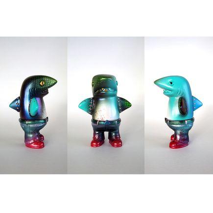 Dski One Original Art - Half Shark-Alligator, Half Man