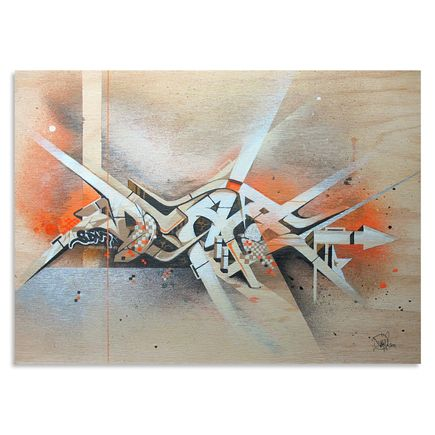 Dvate Original Art - Orange Umber Chrome - Original Artwork