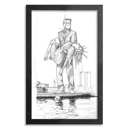 Earth Crusher Original Art - Lady Liberty - Original Drawing