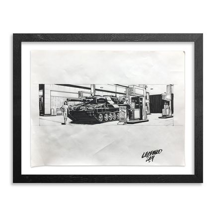 Earth Crusher Original Art - Untitled (Leopard 2A4) - Original Sketch