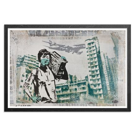 Eddie Colla Art - Air Kowloon - Framed