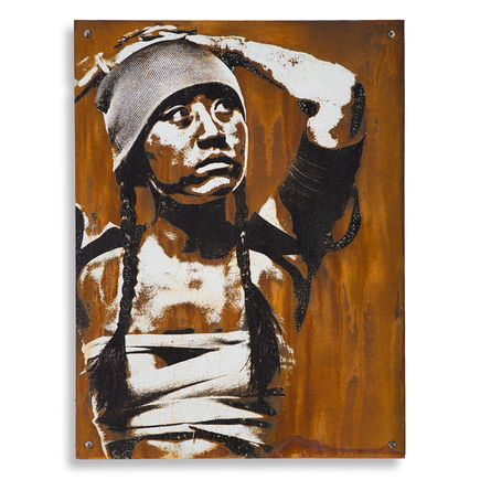 Eddie Colla Hand-painted Multiple - Detention - Limited Edition Rust Print