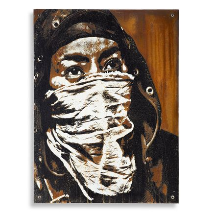 Eddie Colla Hand-painted Multiple - Ghost Armies - Limited Edition Rust Print