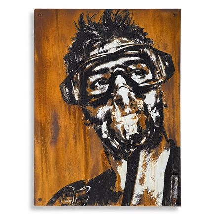 Eddie Colla Hand-painted Multiple - Sentry - Limited Edition Rust Print