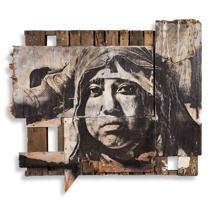 Eddie Colla Original Art - Untitled Slavage Portrait