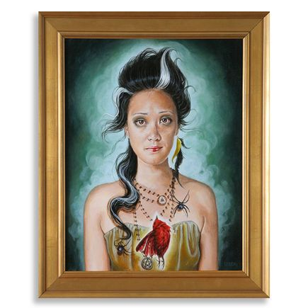 Edith Lebeau Original Art - The Sad Witch - Original Painting