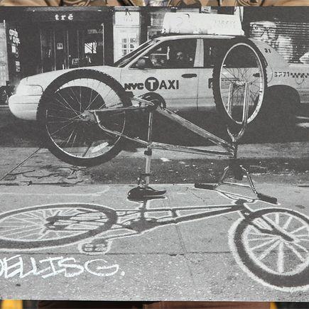 Ellis G Art Print - Ludlow Bike Silver
