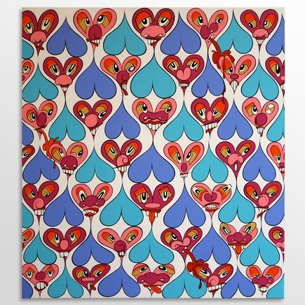 Eric Inkala Original Art - Barf Hearts - Original Artwork