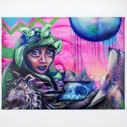 Erin Yoshi Original Art - Riding Green In The Hood
