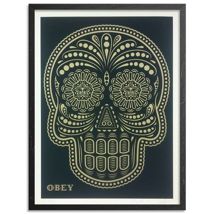 Ernesto Yerena x Shepard Fairey Art Print - Power & Glory Skull: Day of The Dead