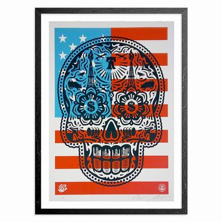 Ernesto Yerena x Shepard Fairey Art Print - Power & Glory Skull - 'Merica Variant