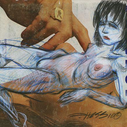 Derek Hess Original Art - Original Painting - February 1972