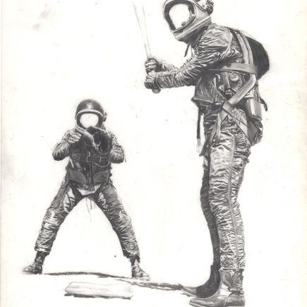 Nicholas Forker Original Art - Waiting For His Pitch 3 Original