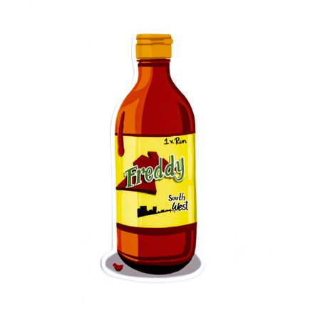 Freddy Diaz Art Print - Southwest Freddy - Valentina Hot Sauce - Artist Sticker