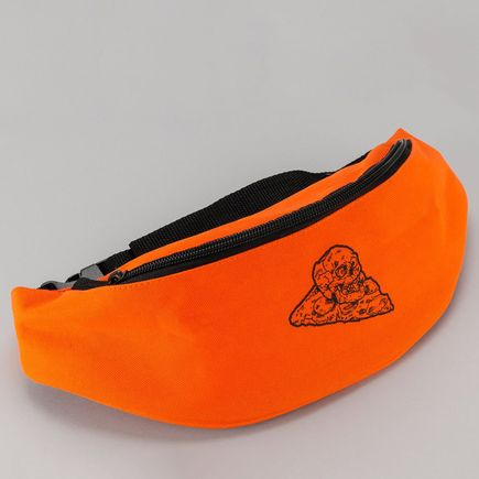 French Clothing - Pizza Skull Fanny Pack - Orange