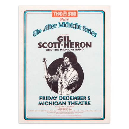 Gary Grimshaw Art Print - Gil Scott-Heron - December 5 - Michigan Theatre