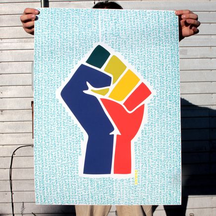 Ann Lewis Art Print - Empower Equality - Blue