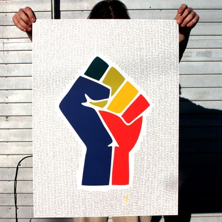 Ann Lewis Art Print - Empower Equality - Grey