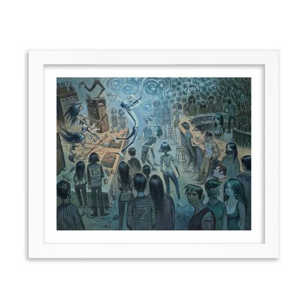 Glenn Barr Art Print - Downstairs At The Shelter - Standard Edition