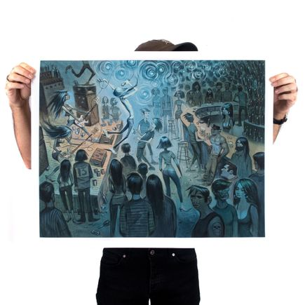 Glenn Barr Art Print - Downstairs At The Shelter - Oversized Edition