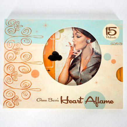 Glenn Barr Art - Heart Aflame - Postcards
