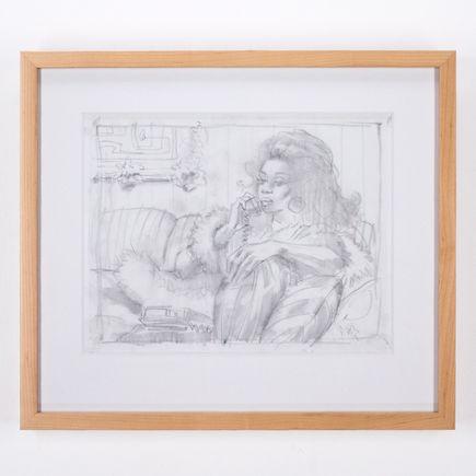 Glenn Barr Original Art - Girl With Pillows Study