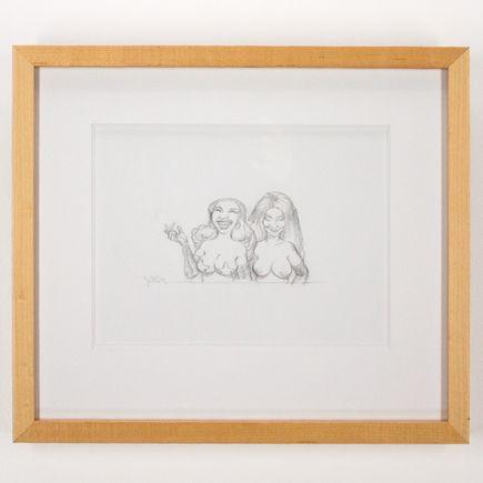 Glenn Barr Original Art - Two Women Laughing Study