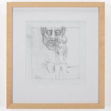 Glenn Barr Original Art - Woman In Front Of Robot Study