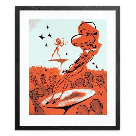 Glenn Barr Art Print - Artist Proof - Trouble in Mind - Orange Edition