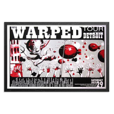Glenn Barr Art Print - Warped Tour - Detroit 2006 Poster