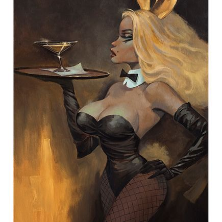 Glenn Barr Original Art - Golden Martini