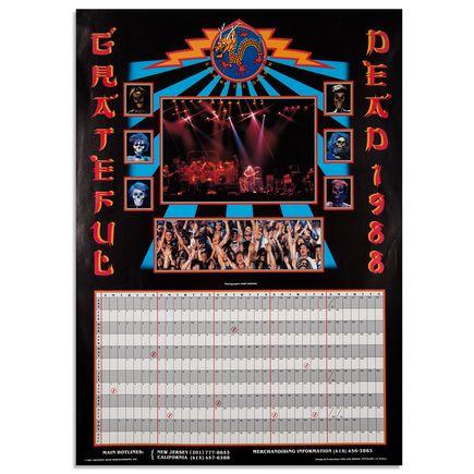 John Werner Art - Grateful Dead 1988 Calendar Poster