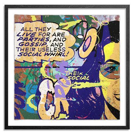 Greg Gossel Hand-painted Multiple - Parties & Gossip 9