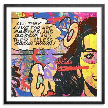 Greg Gossel Hand-painted Multiple - Parties & Gossip 11