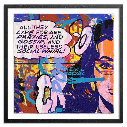 Greg Gossel Hand-painted Multiple - Parties & Gossip 13