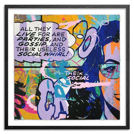 Greg Gossel Hand-painted Multiple - Parties & Gossip 15