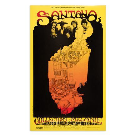 Greg Irons Art Print - Santana - Fillmore West - February 1969